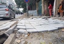 Hà Nội: Yêu cầu các quận, huyện đảm bảo chất lượng thi công đá lát vỉa hè nhằm nâng cao tuổi thọ công trình