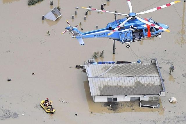 Lũ nhấn chìm viện dưỡng lão Nhật Bản, 14 người nghi thiệt mạng