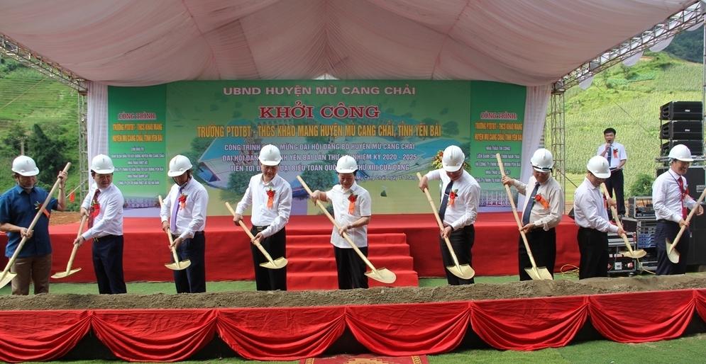 Mù Cang Chải (Yên Bái): Khởi công xây dựng Trường Phổ thông Dân tộc bán trú – THCS Khao Mang