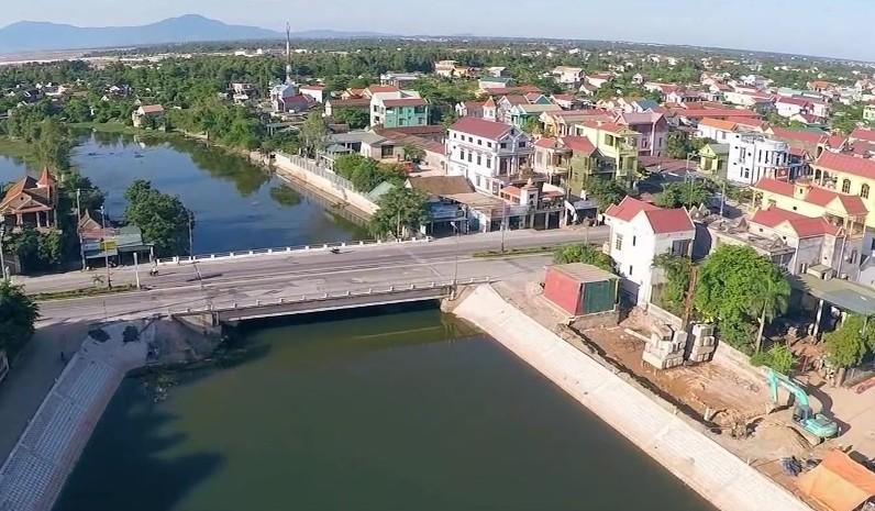 Một góc thị xã Ba Đồn hiện nay.