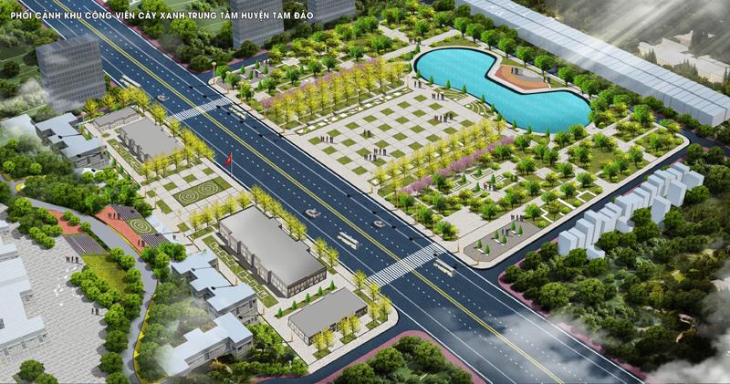 Vĩnh Phúc: Tập trung công tác bồi thường GPMB dự án Khu công viên, cây xanh trung tâm huyện Tam Đảo