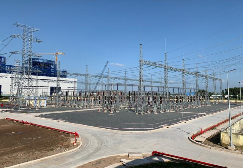 LILAMA hoàn thành đóng điện Sân phân phối 220kV thuộc Trung tâm Điện lực Long Phú