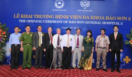 Chính thức ngày 11/8/2015, Bộ Y tế đã cấp giấy phép hoạt động số  177/BYT-GPHĐ cho Bệnh viện Đa khoa Bảo Sơn 2 (địa chỉ 52 Nguyễn Chí Thanh,  Đống Đa, ...