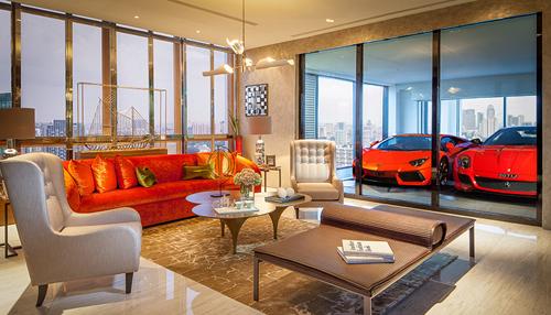 nha 1 6576 1473407561 Thiết kế căn hộ có siêu xe lên nhà bằng thang máy