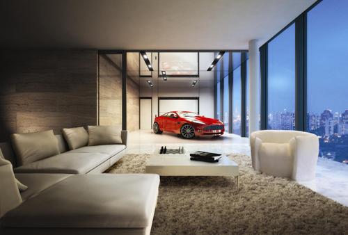 nha 2 7206 1473407561 Thiết kế căn hộ có siêu xe lên nhà bằng thang máy