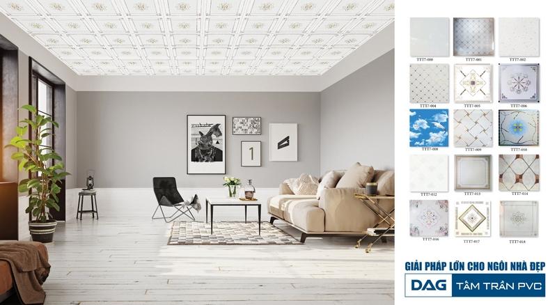 Tấm trần thả PVC của DAG - Giải pháp chống cháy an toàn, hiệu quả