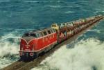 Tuyến đường sắt xuyên biển kỳ lạ ở châu Âu