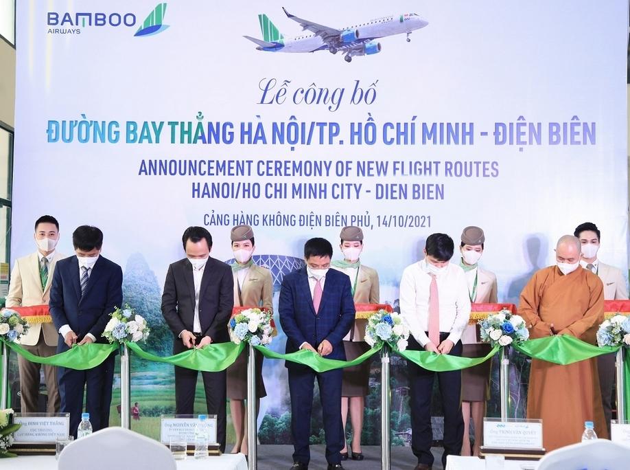 bamboo airways khai truong duong bay thang ha noithanh pho ho chi minh dien bien