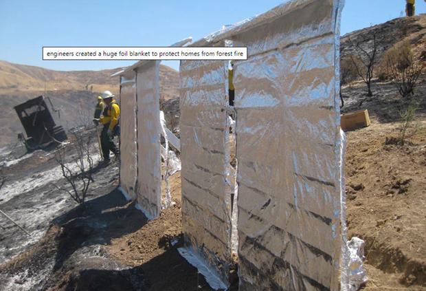 Lớp phủ chống lửa - phương pháp mới bảo vệ ngôi nhà do cháy rừng