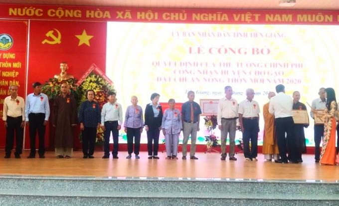 Tiền Giang: Công nhận huyện Chợ Gạo đạt chuẩn nông thôn mới