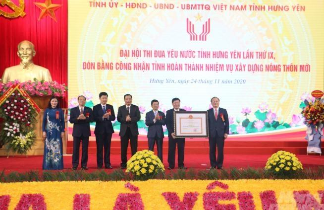 Hưng Yên đón bằng công nhận tỉnh hoàn thành nhiệm vụ xây dựng nông thôn mới