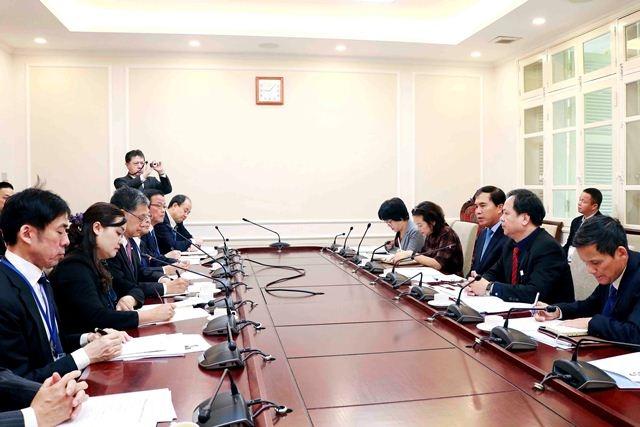 Thứ trưởng Lê Quang Hùng tiếp lãnh đạo Hiệp hội Xúc tiến ngoại giao nhân dân Nhật Bản