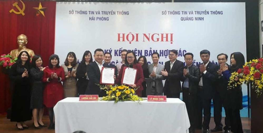 Sở Thông tin và Truyền thông Hải Phòng, Quảng Ninh ký thoả thuận hợp tác