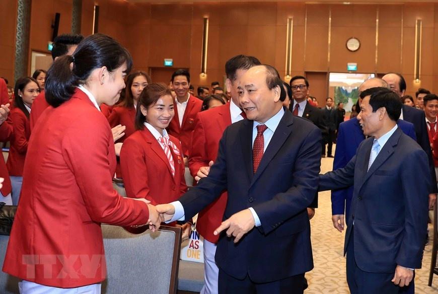 Thủ tướng gặp VĐV, huấn luyện viên đạt thành tích cao tại SEA Games 30