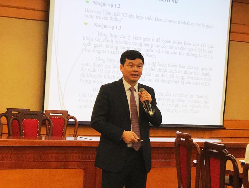 Dự án tăng cường sản xuất và sử dụng gạch không nung ở Việt Nam nhiều thành công
