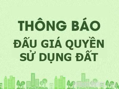 Đấu giá quyền sử dụng đất tại khu quy hoạch đất ở dân cư tại Can Lộc, tỉnh Hà Tĩnh