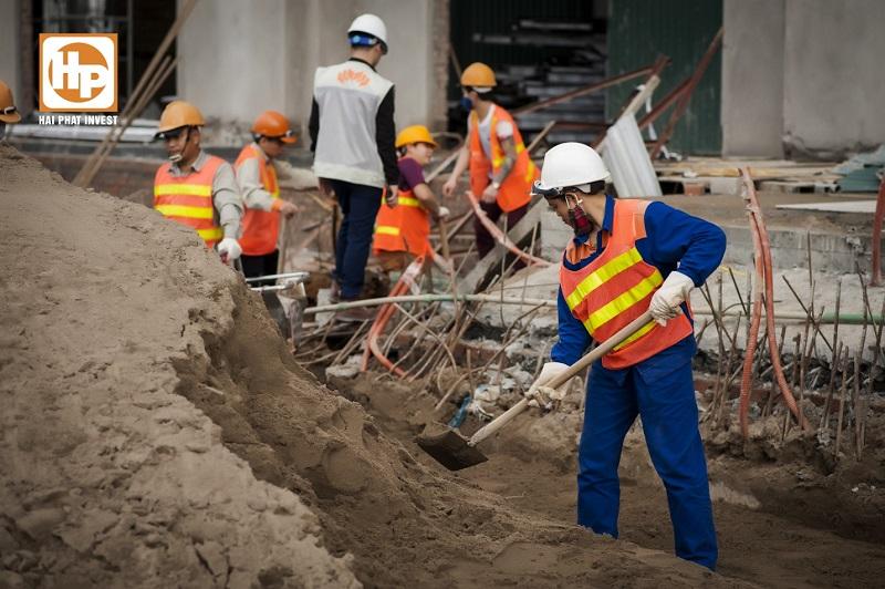 Không khí nhộn nhịp trên công trường các dự án của Hải Phát Invest những ngày giáp Tết