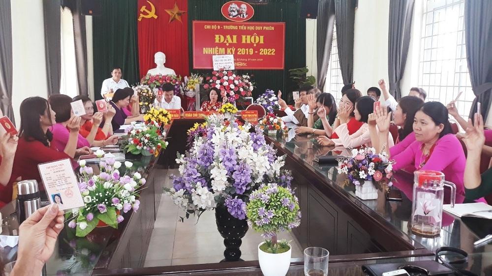Tam Dương (Vĩnh Phúc): Đại hội các chi bộ trực thuộc Đảng bộ xã Duy Phiên tiến tới Đại hội Đảng bộ xã nhiệm kỳ 2020-2025