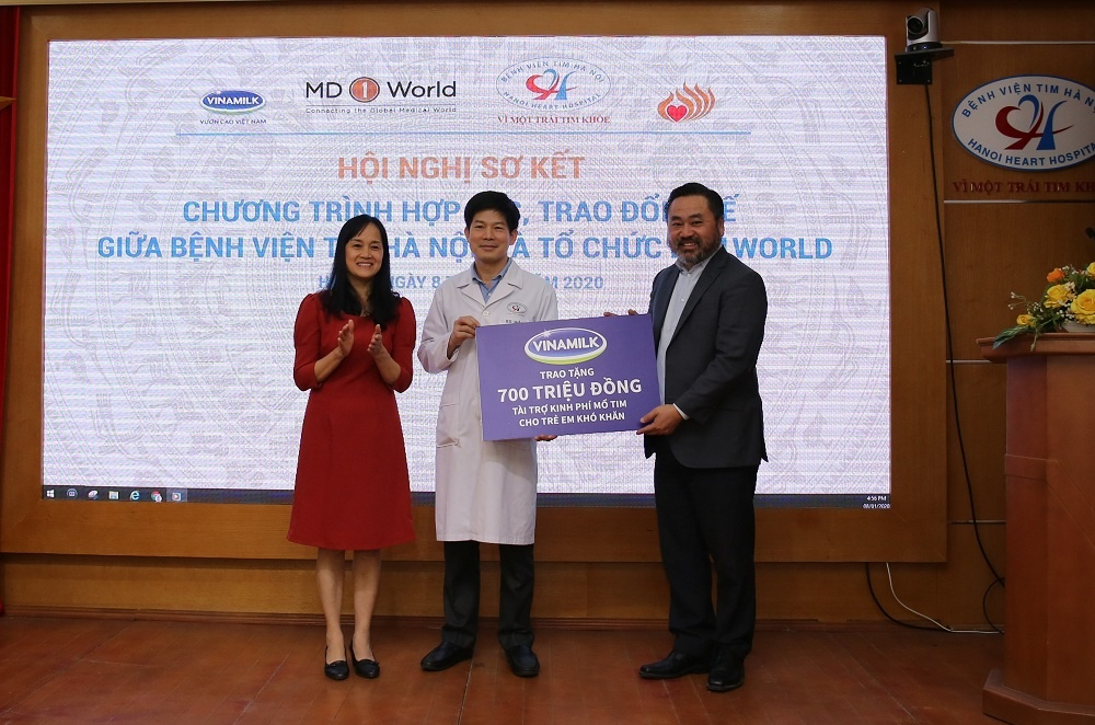 Bệnh viện Tim Hà Nội và MD1World hợp tác đem lại nhiều cơ hội chữa trị cho các bệnh nhân nhi tim mạch