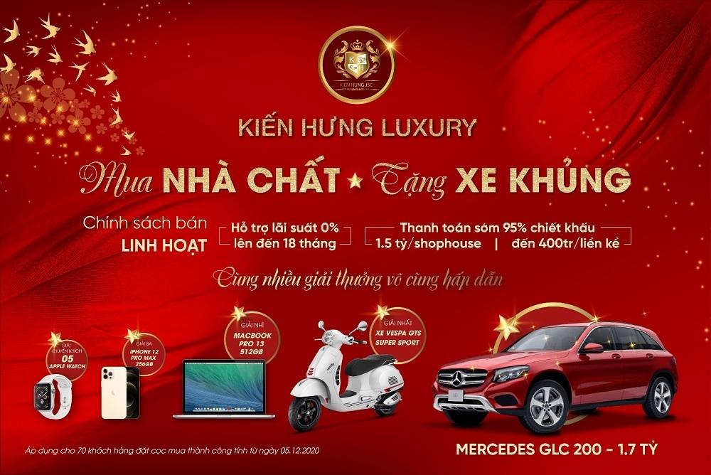kien hung luxury tung chuong trinh uu dai mua nha chat tang xe khung