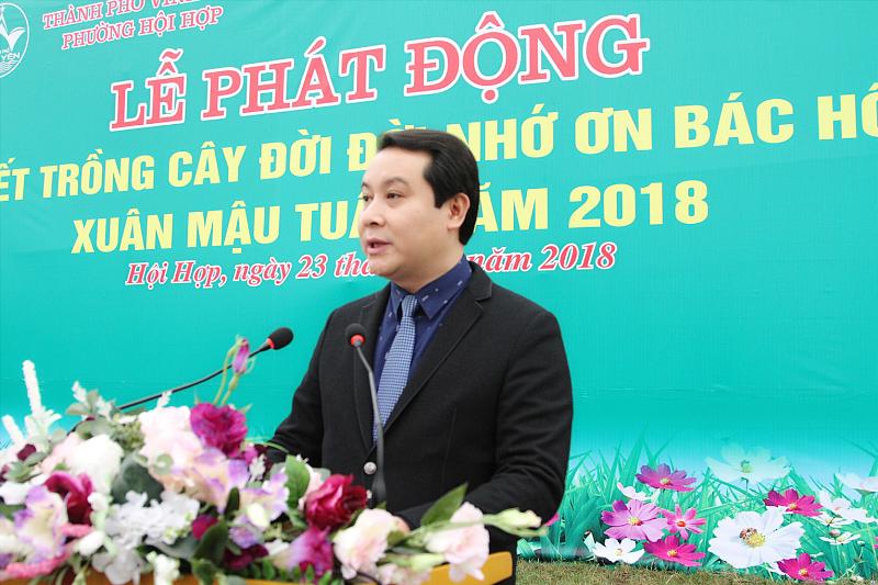 """TP. Vĩnh Yên phát động """"Tết trồng cây đời đời nhớ ơn Bác Hồ"""" xuân Mậu Tuất 2018"""
