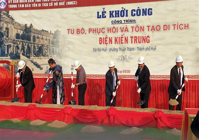 Restoration of Nguyen Dynasty's Kien Trung Palace starts