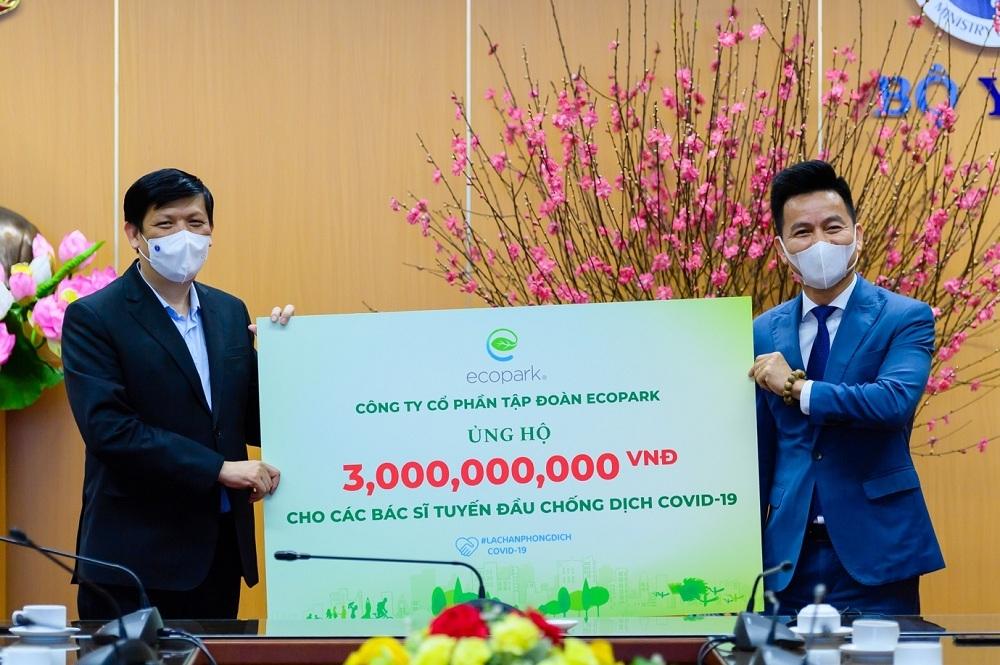 Ecopark dừng quảng cáo và sự kiện Tết để ủng hộ hàng tỷ đồng giúp Hải Dương chống Covid-19