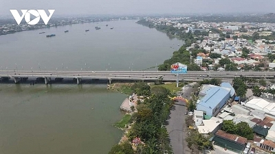 Underground tunnel connecting road along Dong Nai river