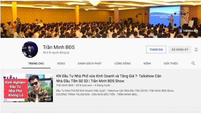 dau tu bat dong san hieu qua voi kenh youtube tran minh bds