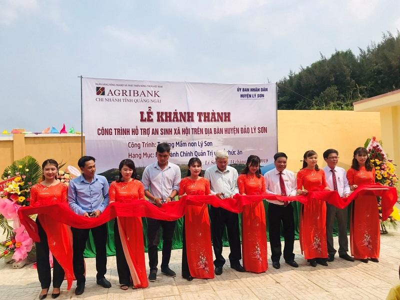Khánh thành Trường Mầm non Lý Sơn do Agribank tài trợ kinh phí