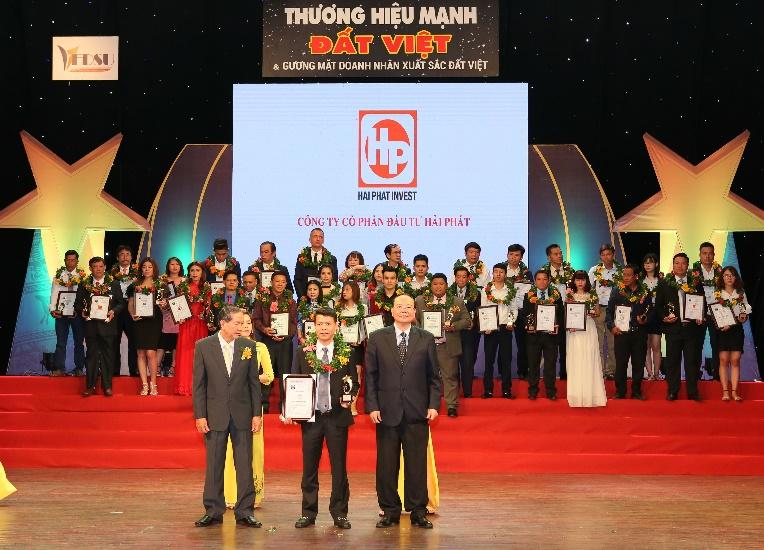 Hải Phát Invest đạt Top 10 Thương hiệu mạnh Đất Việt 2018