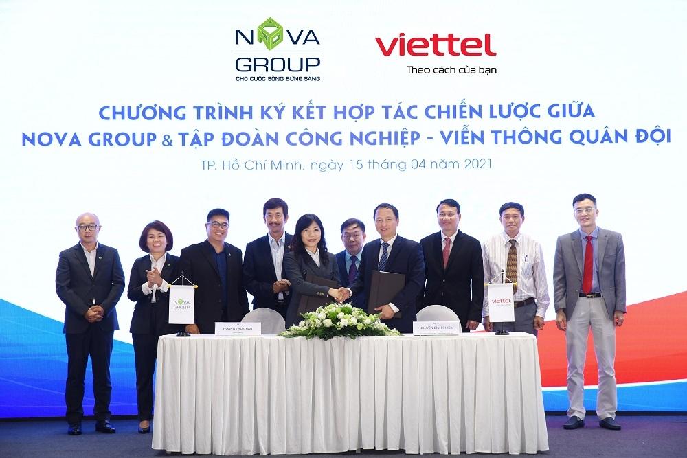nova group va viettel hop tac chien luoc trong chuyen doi so