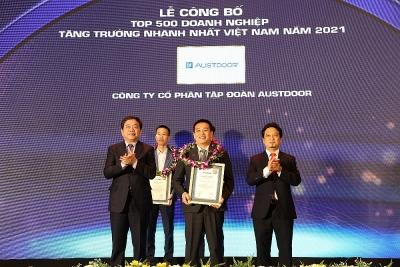 Austdoor được vinh danh Top 10 Doanh nghiệp tăng trưởng nhanh nhất Việt Nam 2021