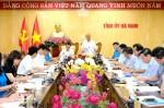 Thủ tướng làm việc với tỉnh Hà Nam