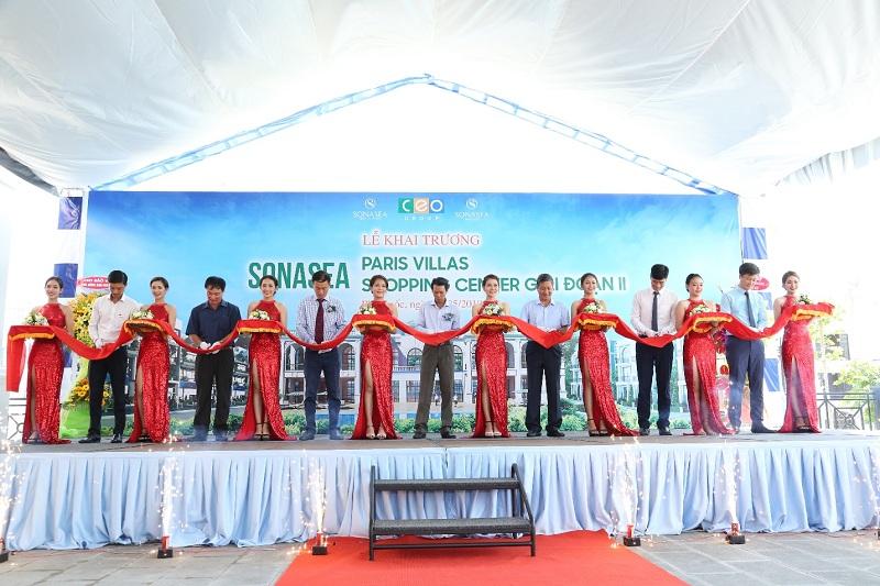Khai trương Sonasea Paris Villas và Sonasea Shopping Center 2 - CEO Group tiếp tục khẳng định vị thế dẫn đầu tại Phú Quốc