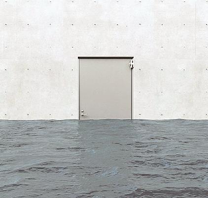 japanese company sanwa shutter releases new flood proof door