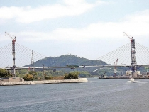 symbol bridge of reconstruction from japan earthquake almost completes