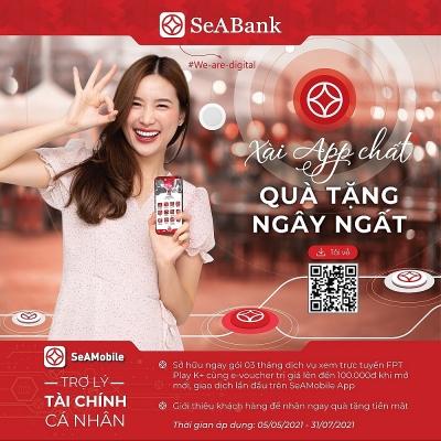 SeABank dành tặng hơn 2 tỷ đồng cho khách hàng mở mới ngân hàng số SeANet/SeAMobile
