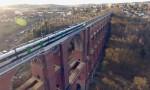 Cây cầu cạn dài 574 mét cõng cả đoàn tàu
