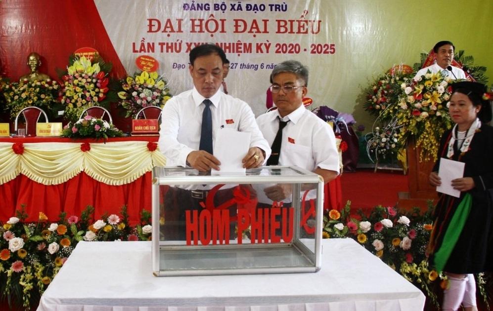 Tam Đảo (Vĩnh Phúc): Đại hội đại biểu Đảng bộ xã Đạo Trù lần thứ XXII nhiệm kỳ 2020 - 2025 thành công tốt đẹp