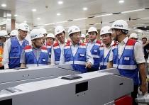 deputy prime minister inspects progress on hcm citys metro line