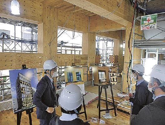 japans first fully wooden fire proof high rise constructed in yokohama