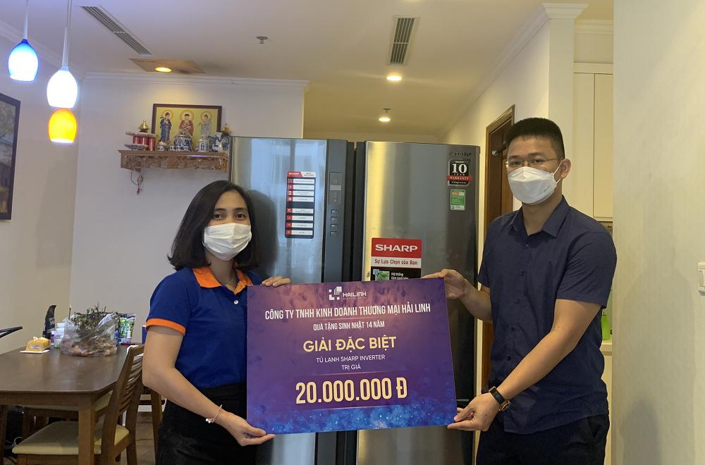 Tìm ra chủ nhân trúng giải Đặc biệt trong sinh nhật Công ty Hải Linh 14 tuổi
