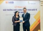 SHB được vinh danh Ngân hàng có dịch vụ thanh toán quốc tế xuất sắc