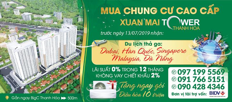 """Du lịch """"thả ga"""" cùng Xuân Mai Tower Thanh Hóa"""
