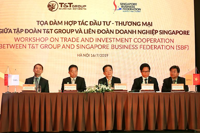 T&T Group và Liên đoàn Doanh nghiệp Singapore trao đổi cơ hội hợp tác thương mại và đầu tư