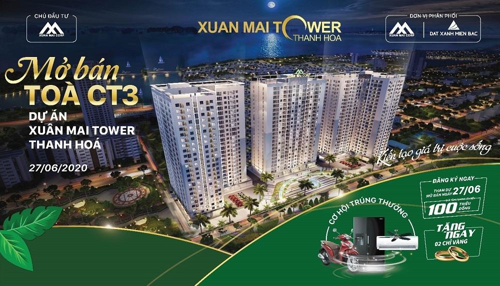 Xuân Mai Tower Thanh Hoá chính thức mở bán căn hộ tòa CT3