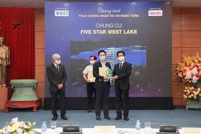 """Nối tiếp thành công, Five Star West Lake được vinh danh """"Dự án đáng sống 2021"""""""