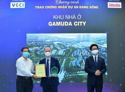 Gamuda City được vinh danh 3 giải thưởng trong chương trình Dự án đáng sống 2021