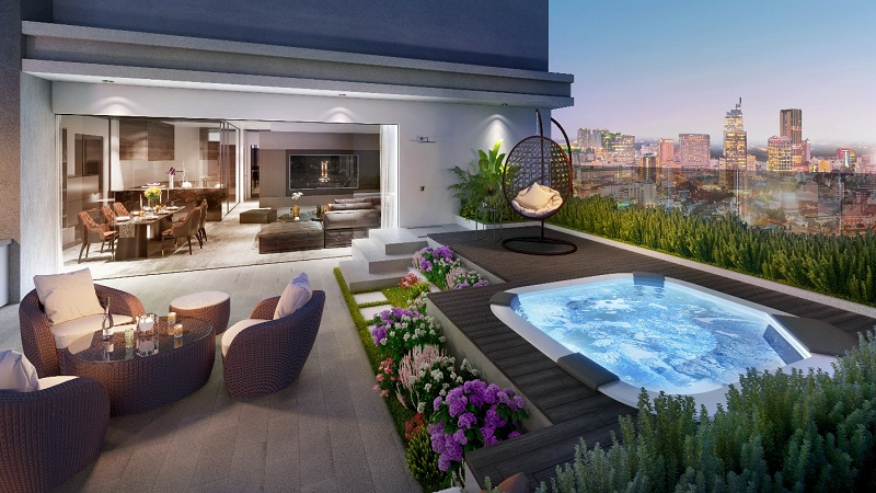 Novaland lần đầu giới thiệu sản phẩm siêu sang: Sky Villa